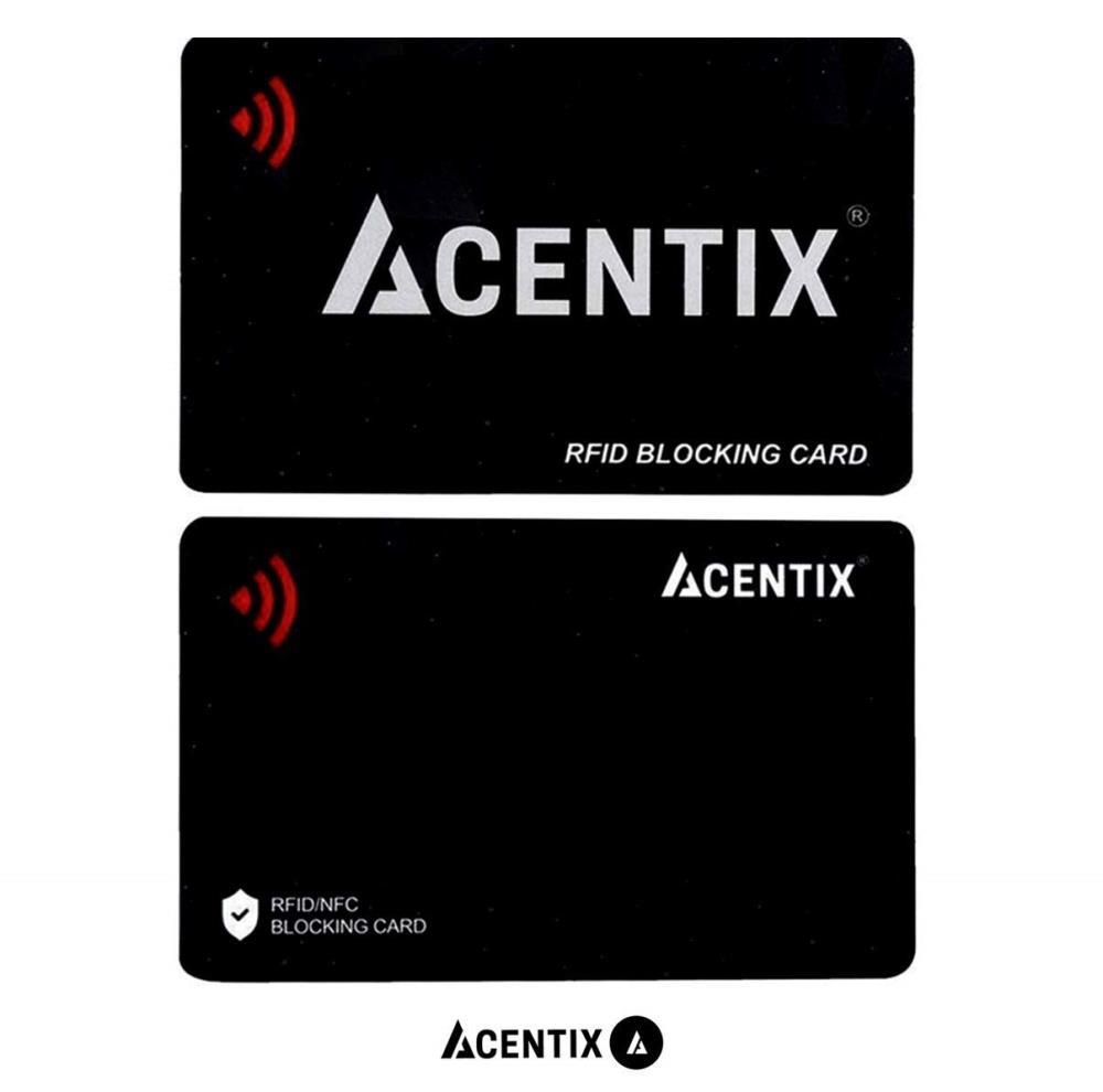 2372e2d3ddae 2 x ACENTIX RFID/NFC Black Signal Blocking Cards Protector Guard For Credit  / Debit Card